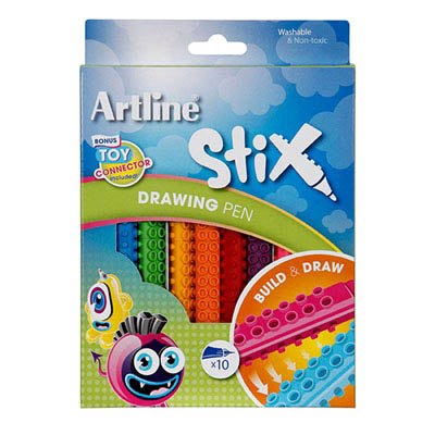 Image for ARTLINE STIX DRAWING PEN ASSORTED PACK 10 from BusinessWorld Computer & Stationery Warehouse