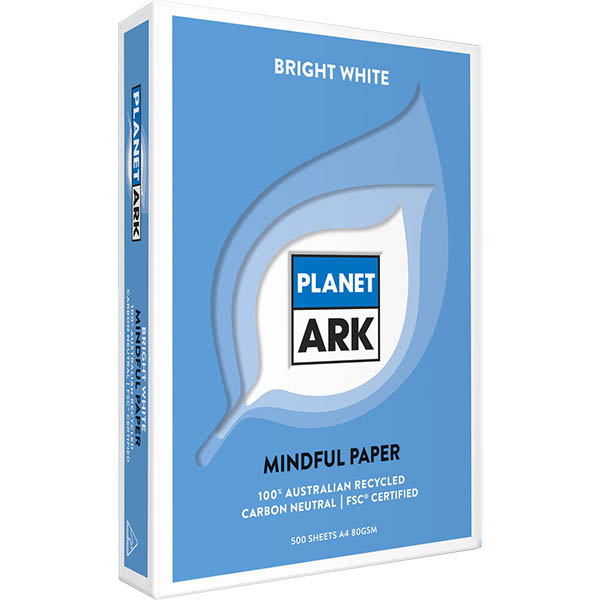 Image for PLANET ARK MINDFUL A4 COPY PAPER 80GSM WHITE PACK 500 SHEETS from Positive Stationery