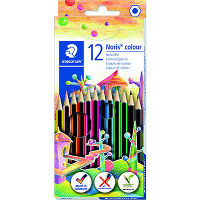 Image for STAEDTLER 185 NORIS COLOUR PENCILS ASSORTED BOX 12 from Memo Office and Art
