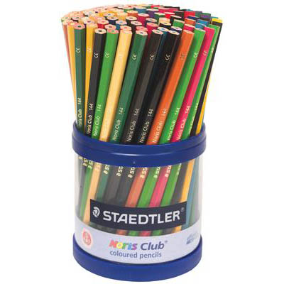 Image for STAEDTLER 185 NORIS COLOUR PENCILS ASSORTED TUB 108 from BusinessWorld Computer & Stationery Warehouse