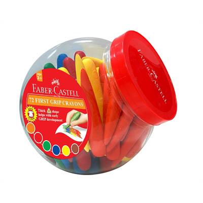 Image for FABER-CASTELL FIRST GRIP CRAYONS ASSORTED CLASSPACK 72 from Mitronics Corporation
