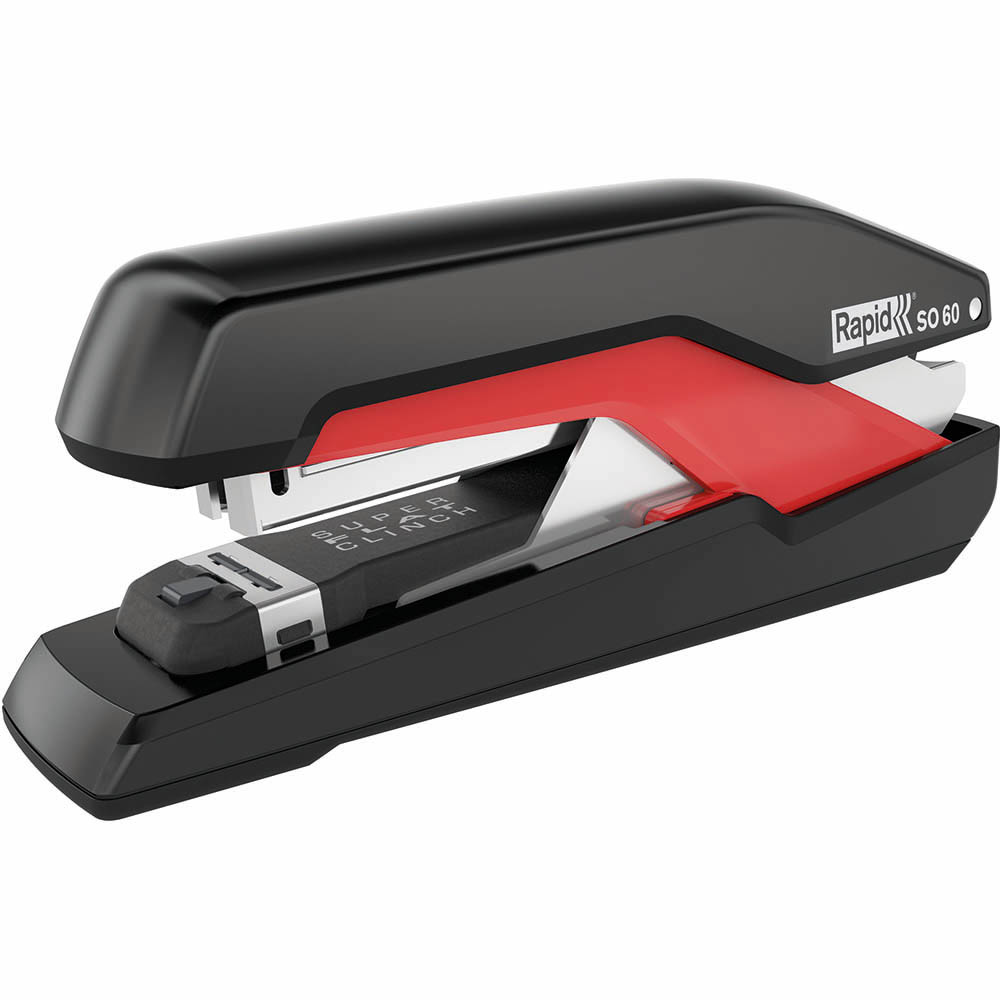 Image for RAPID SO60 OMNIPRESS STAPLER FULL STRIP 60 SHEET BLACK/RED from Challenge Office Supplies