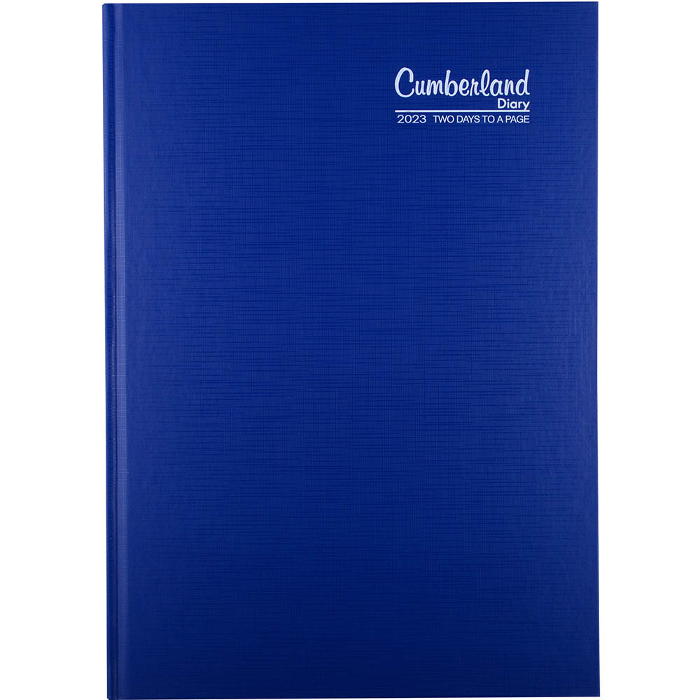 Image for CUMBERLAND 2022 PREMIUM BUSINESS DIARY 2 DAYS TO PAGE 1 HOUR A4 BLUE from ONET B2C Store