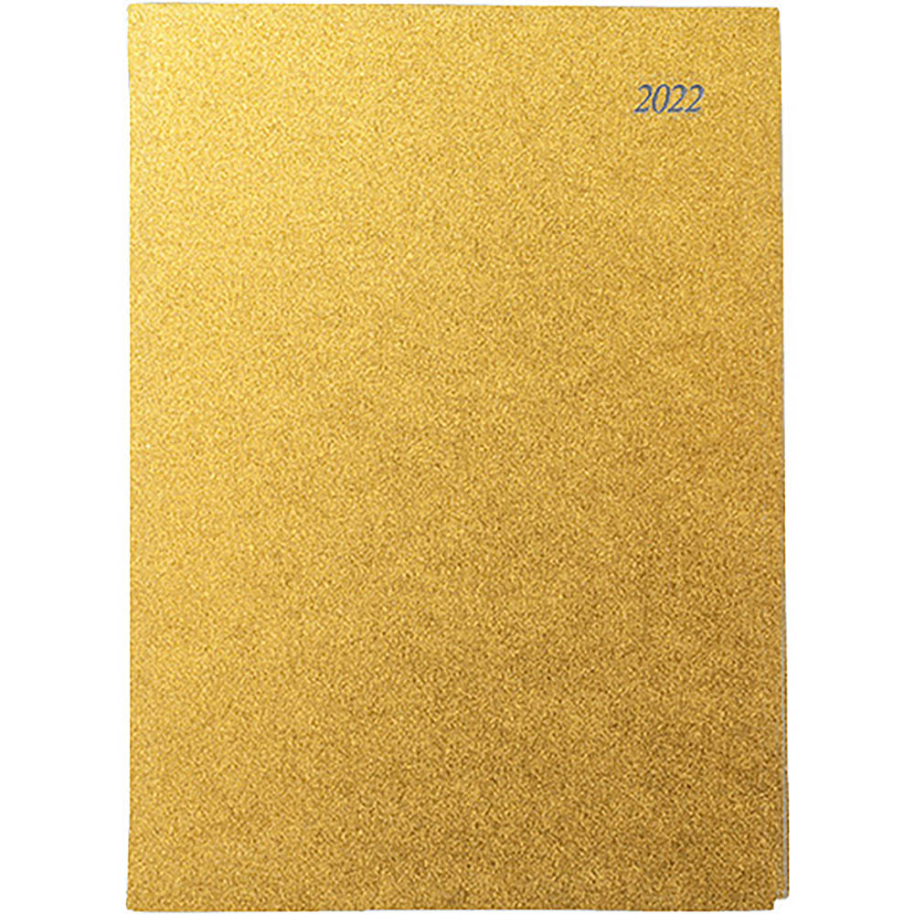 Image for CUMBERLAND 2022 SOHO SPIRAL DIARY PVC WEEK TO VIEW 1 HOUR A4 GOLD from ONET B2C Store