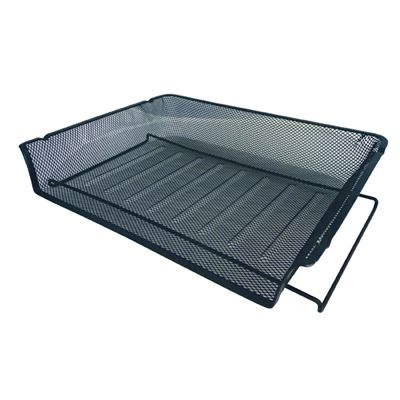 Image for ESSELTE METAL MESH DOCUMENT TRAY LANDSCAPE A4 BLACK from BusinessWorld Computer & Stationery Warehouse