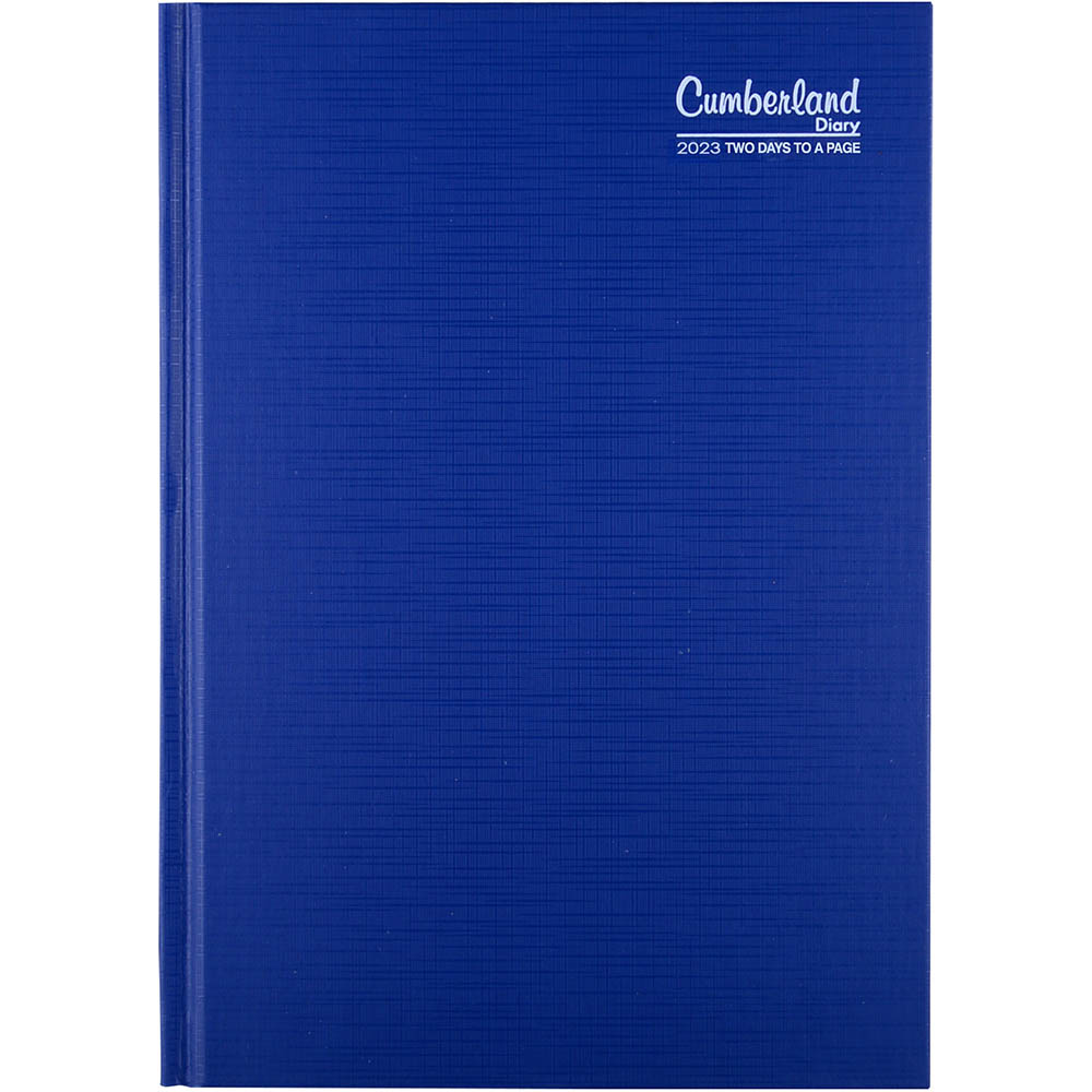 Image for CUMBERLAND 2022 PREMIUM BUSINESS DIARY 2 DAYS TO PAGE 1 HOUR A5 BLUE from ONET B2C Store
