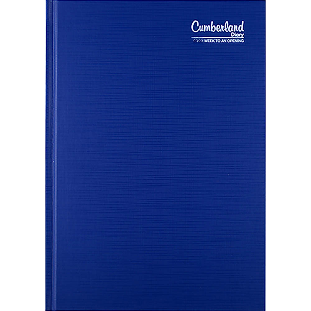 Image for CUMBERLAND 2022 PREMIUM BUSINESS DIARY WEEK TO VIEW 1 HOUR A5 BLUE from ONET B2C Store