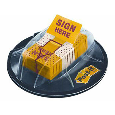 Image for POST-IT 680-HVSH SIGN HERE FLAGS DESK GRIP DISPENSER YELLOW PACK 200 from BusinessWorld Computer & Stationery Warehouse