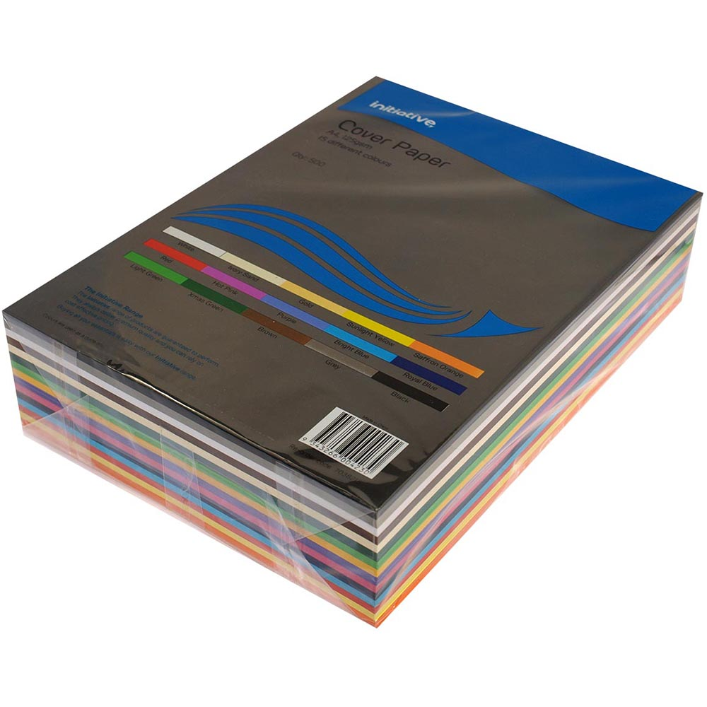 Image for INITIATIVE COVER PAPER 125GSM A4 15 COLOUR ASSORTED PACK 500 from ONET B2C Store
