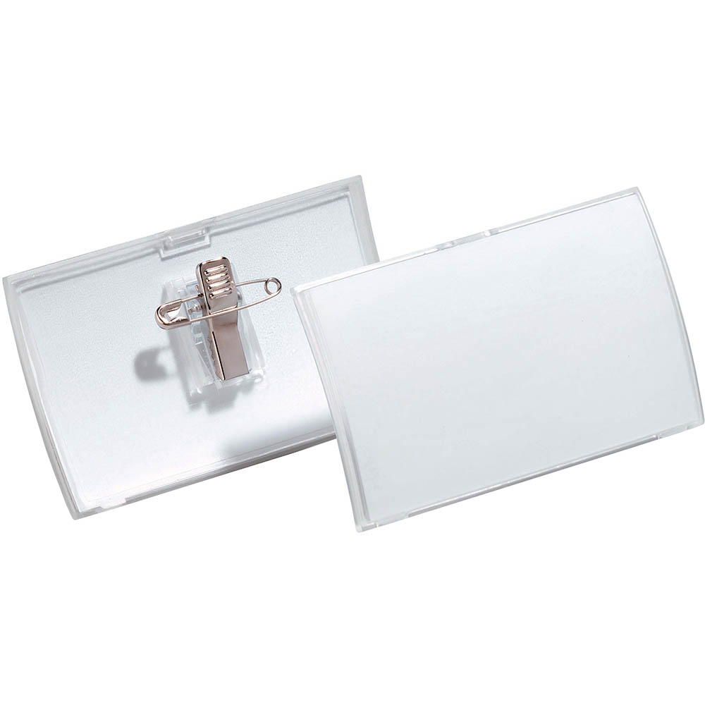 Image for DURABLE CLICK FOLD NAME BADGE WITH COMBI CLIP BOX 25 from Office Heaven
