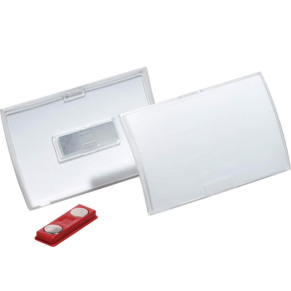 Image for DURABLE CLICK FOLD NAME BADGE WITH MAGNET BOX 10 from Office Heaven