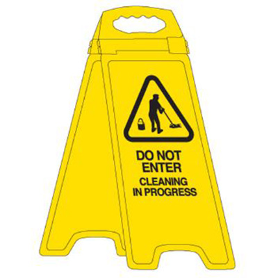 Image for TRAFALGAR DELUXE FLOOR STAND DO NOT ENTER CLEANING IN PROGRESS from ONET B2C Store