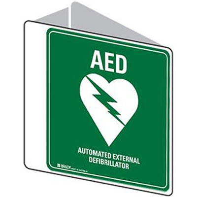 Image for TRAFALGAR AUTOMATIC EXTERNAL DEFIBRILLATOR SIGN DOUBLE SIDED 225 X 225MM POLYPROPYLENE from BusinessWorld Computer & Stationery Warehouse