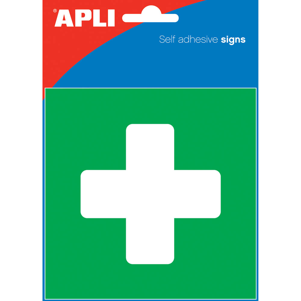 Image for APLI FIRST AID SELF ADHESIVE SIGN 114 X 114 MM from ONET B2C Store