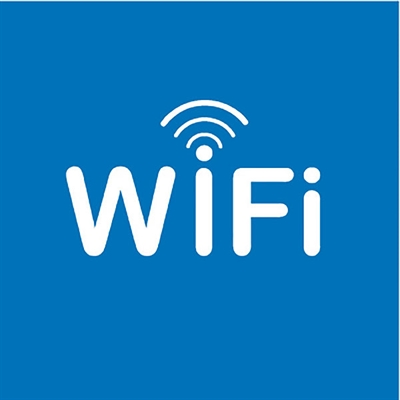 Image for APLI SELF ADHESIVE SIGN WIFI ZONE 114MM BLUE/WHITE from ONET B2C Store