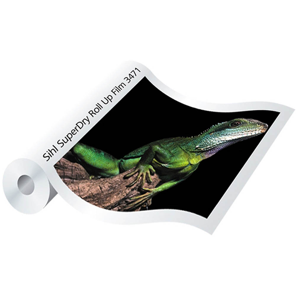 Image for SIHL 3471 SUPERDRY ROLL UP FILM 190GSM 1067MM X 30M SATIN WHITE from BusinessWorld Computer & Stationery Warehouse