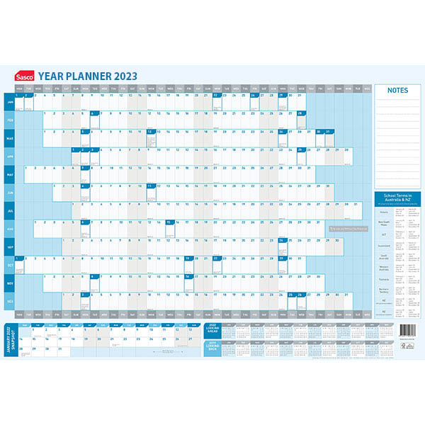 Image for SASCO 2022 YEAR PLANNER 610 X 870MM from ONET B2C Store