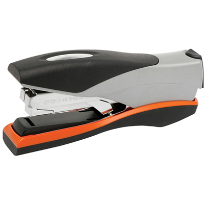 Image for REXEL OPTIMA LOW FORCE FULL STRIP STAPLER 40 SHEET ORANGE/SILVER from Challenge Office Supplies