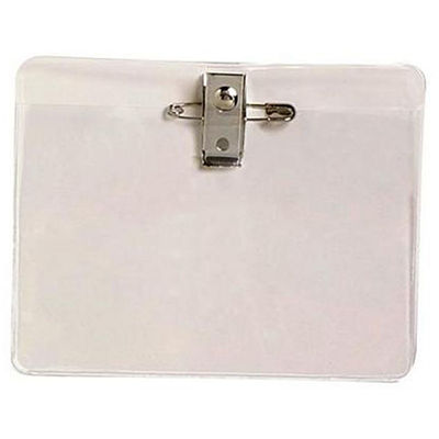 Image for REXEL CARD HOLDER LARGE WITH PIN AND CLIP PACK 10 from Office Heaven