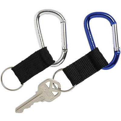 Image for REXEL KEY HOLDER CARABINERS BLUE/SILVER PACK 2 from Office Heaven