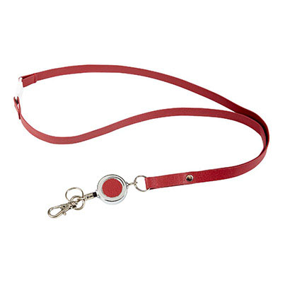Image for REXEL LANYARD WITH BADGE REEL BURGUNDY PU FINISH from Devon Office Products