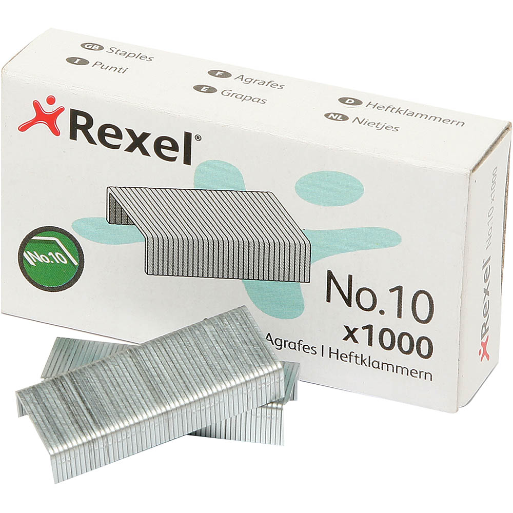 Image for REXEL STAPLES SIZE 10 BOX 1000 from Challenge Office Supplies