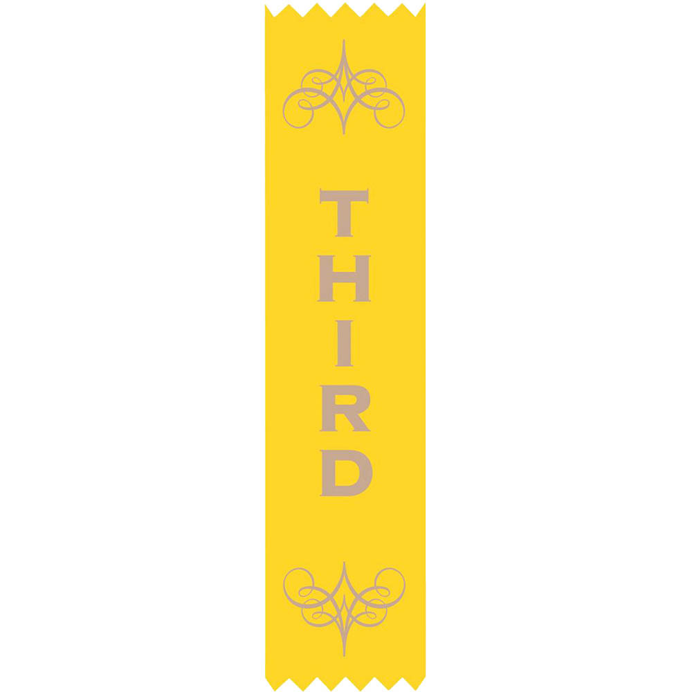 Image for AVERY 69631 MERIT RIBBONS SATIN 3RD PLACE YELLOW PACK 100 from Mitronics Corporation