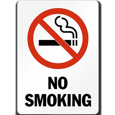 Image for TRAFALGAR PROHIBITION SIGN NO SMOKING 450 X 300MM from ONET B2C Store