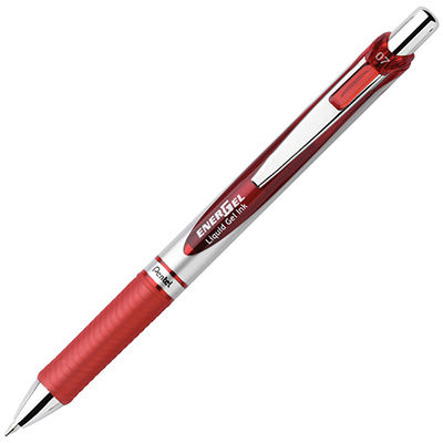 Image for PENTEL BL77 ENERGEL GEL INK PEN RETRACTABLE 0.7MM RED from BusinessWorld Computer & Stationery Warehouse