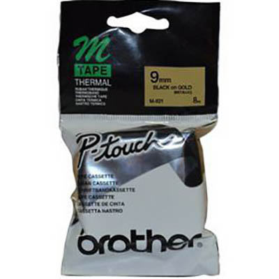Image for BROTHER M-821 NON LAMINATED LABELLING TAPE 9MM BLACK ON GOLD from ONET B2C Store
