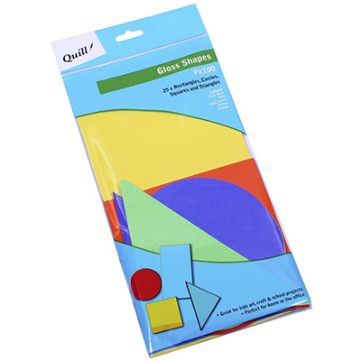 Image for QUILL POSTER BOARD GLOSS SHAPES ASSORTED PACK 100 from ONET B2C Store