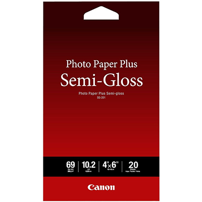 Image for CANON SG-201 PHOTO PAPER PLUS SEMI GLOSS 260GSM 4 X 6 INCH WHITE PACK 20 from BusinessWorld Computer & Stationery Warehouse