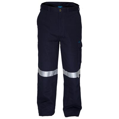 Image for PRIME MOVER MW701 COTTON DRILL PANTS FLAME RETARDANT WITH REFLECTIVE TAPE from Mercury Business Supplies