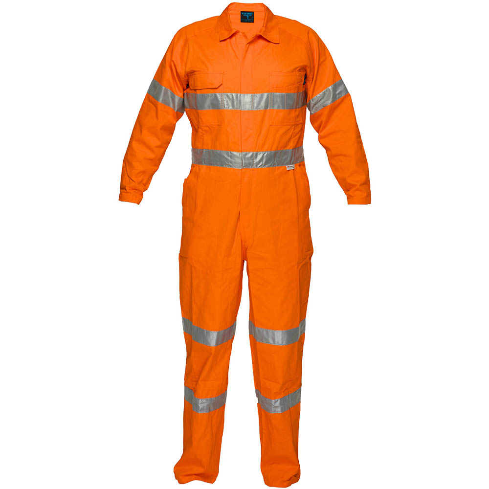 Image for PRIME MOVER MF922 PRIMETECH COTTON COVERALL FLAME RETARDANT WITH REFLECTIVE TAPE from Mercury Business Supplies