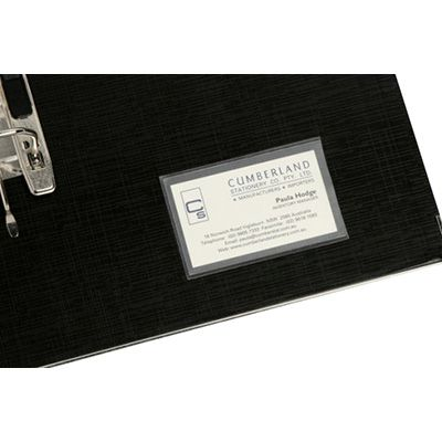Image for CUMBERLAND BUSINESS CARD POCKET SELF ADHESIVE SIDE OPEN 65 X 100MM CLEAR PACK 10 from Holiday Coast Office