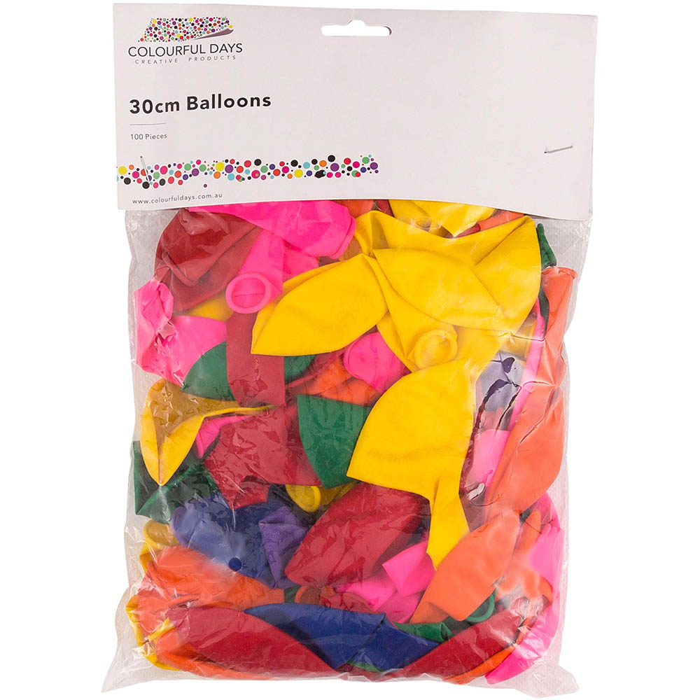 Image for COLOURFUL DAYS BALLOONS 300MM ASSORTED PACK 100 from ONET B2C Store