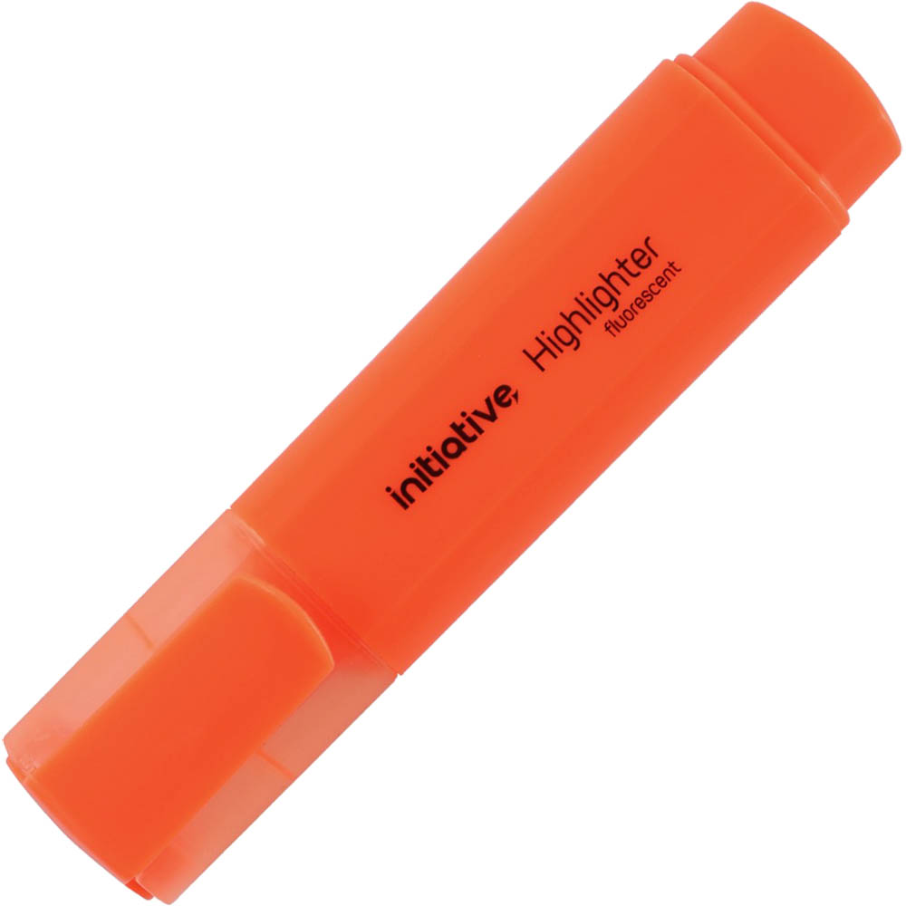 Image for INITIATIVE HIGHLIGHTER CHISEL ORANGE from BusinessWorld Computer & Stationery Warehouse