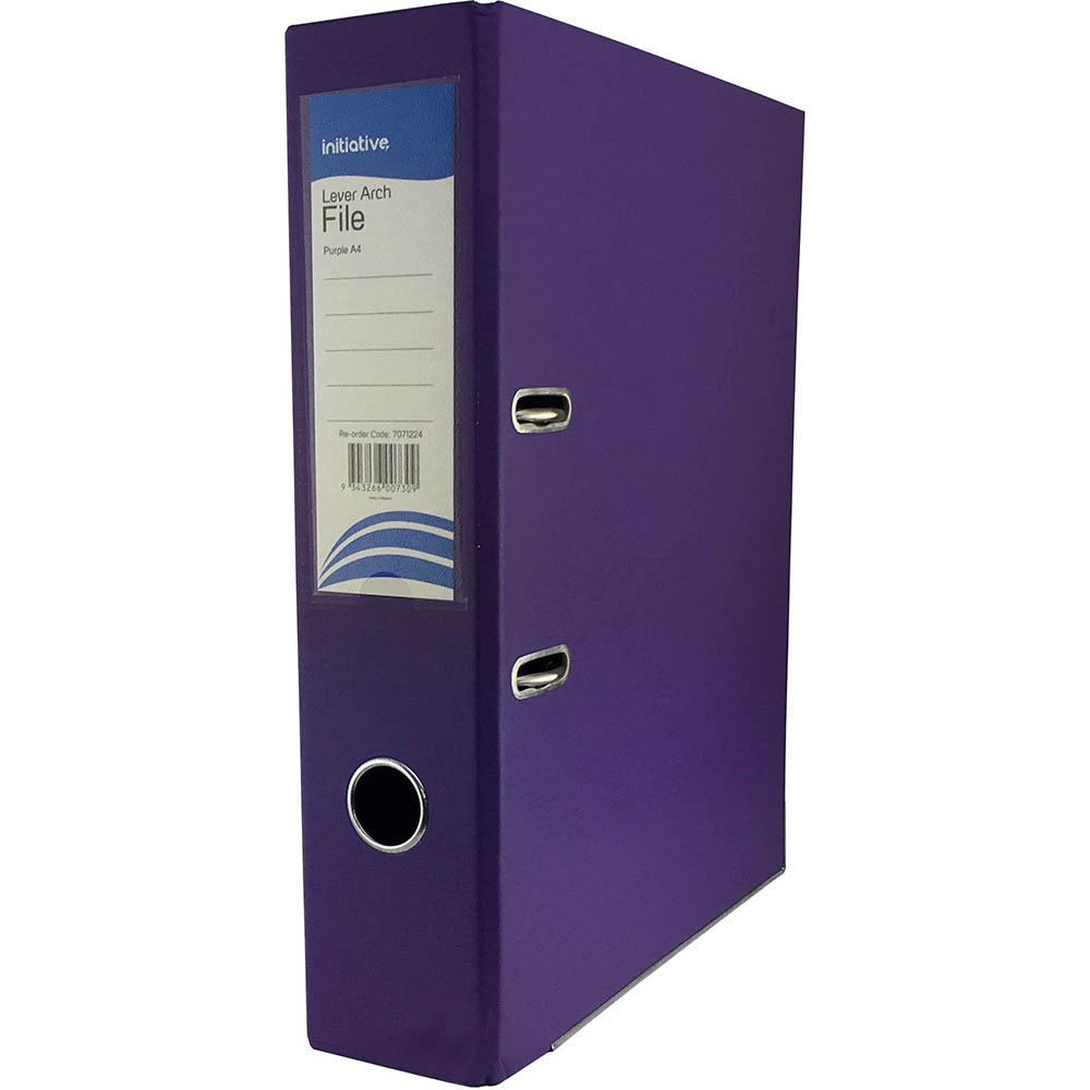 Image for INITIATIVE LEVER ARCH FILE PP 70MM A4 PURPLE from ONET B2C Store