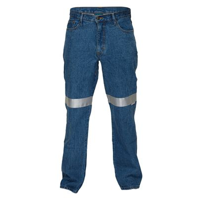 Image for PRIME MOVER MW169 COTTON DENIM JEANS WITH CONTRAST STITCHING WITH REFLECTIVE TAPE from Devon Office Products