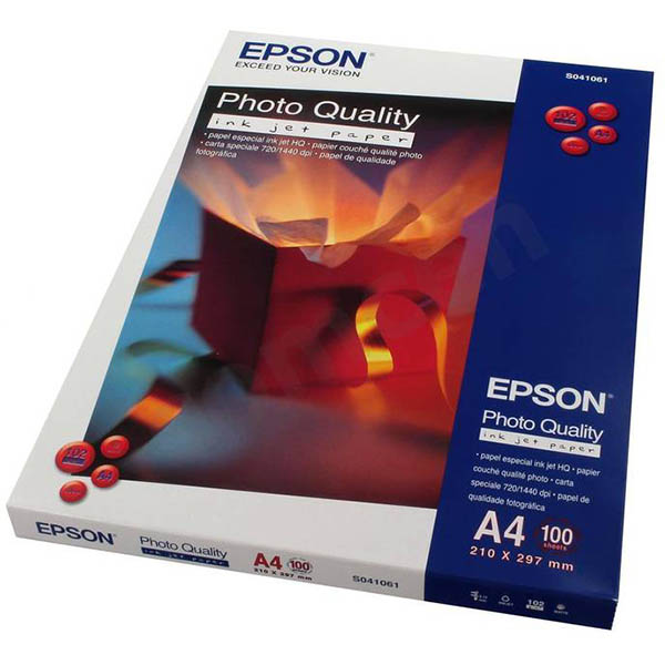 Image for EPSON C13S041061 QUALITY PHOTO PAPER 102GSM A4 WHITE PACK 100 from ONET B2C Store