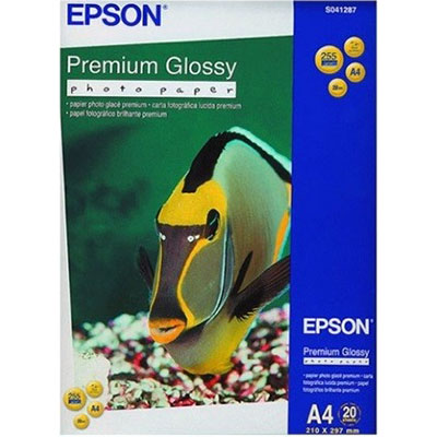 Image for EPSON S041287 PREMIUM GLOSSY PHOTO PAPER A4 WHITE PACK 20 from ONET B2C Store