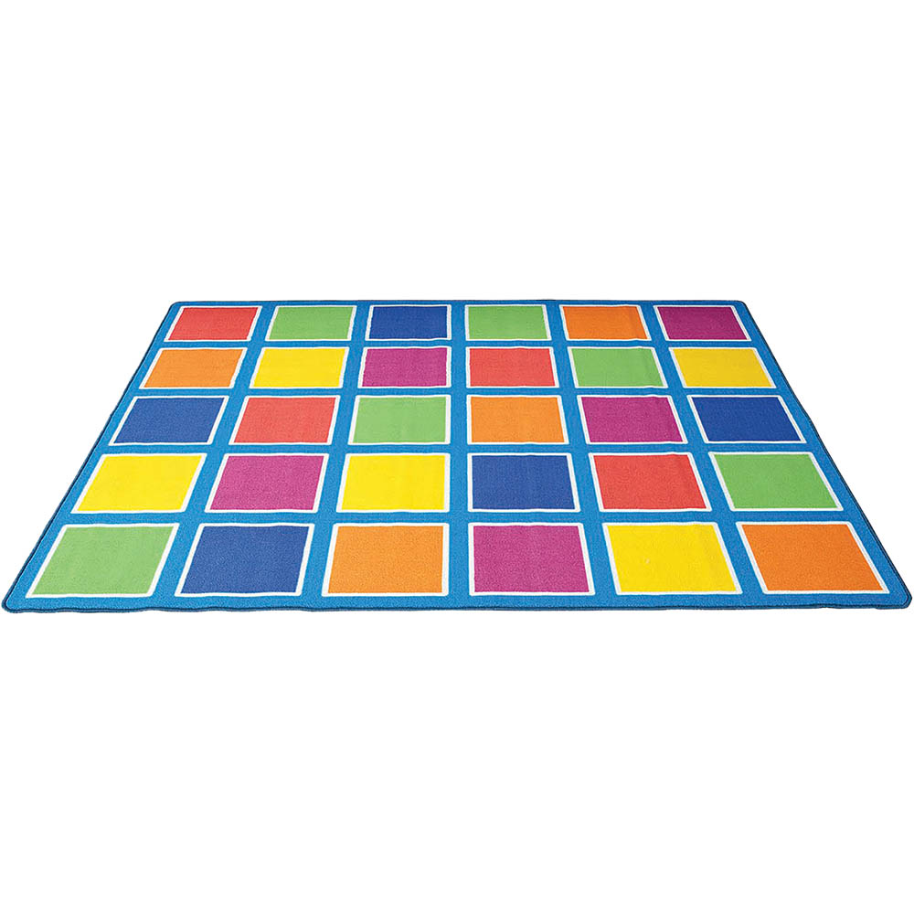 Image for ELIZABETH RICHARDS COLOUR SQUARES PLACEMENT RUG 30 SQUARES 4M X 3M LIGHT BLUE from BusinessWorld Computer & Stationery Warehouse