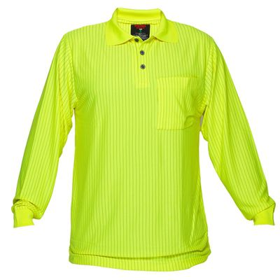 Image for PRIME MOVER MF813 HI VIS POLO SHIRT LONG SLEEVE FIRE RETARDENT ANTI STATIC from Mercury Business Supplies