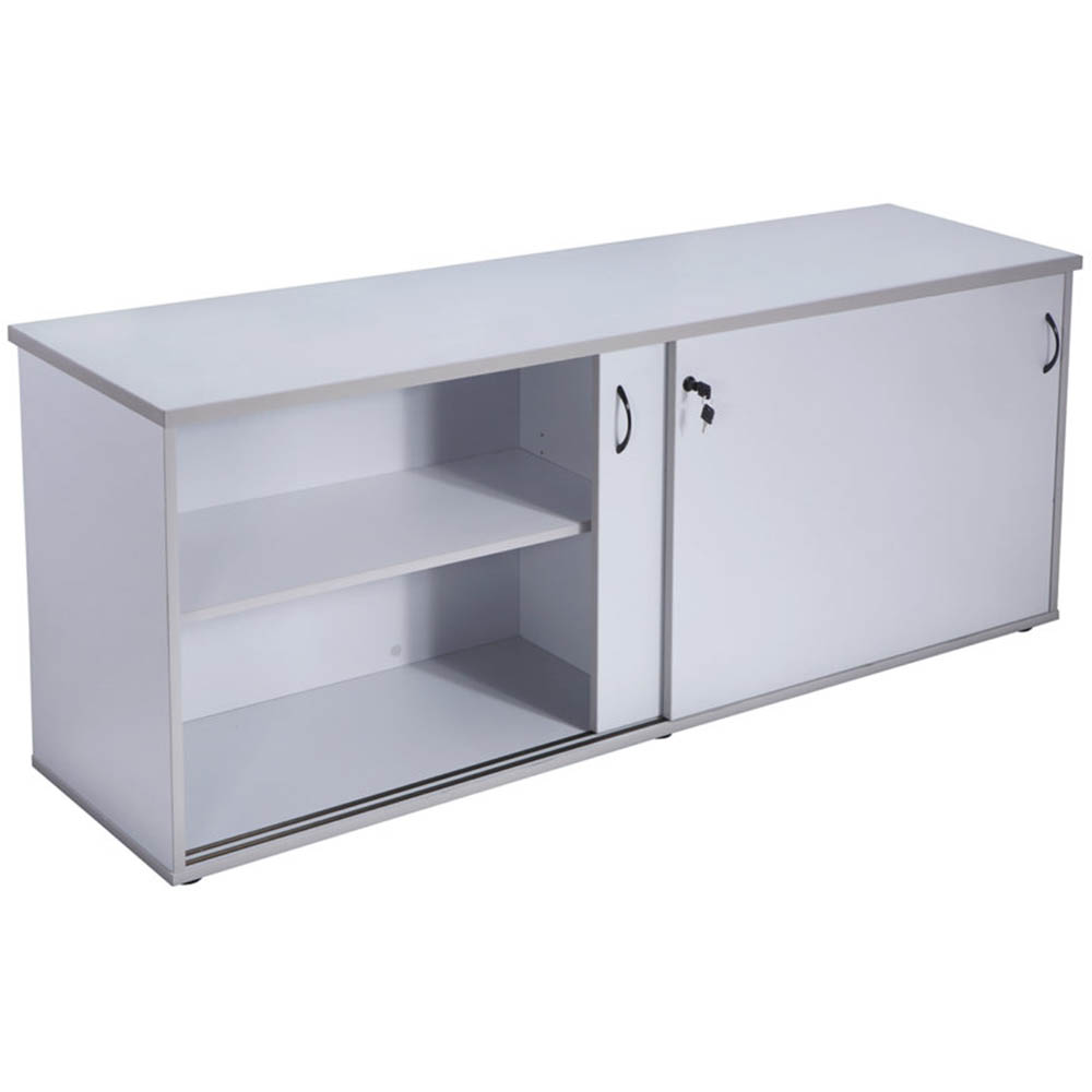 Image for RAPID VIBE CREDENZA SLIDING DOOR LOCKABLE 1200 X 450MM GREY from Clipboard Stationers & Art Supplies