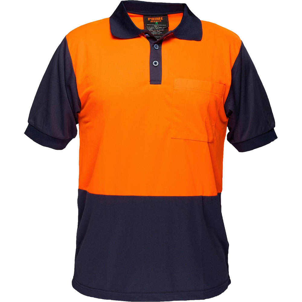 Image for PRIME MOVER MP152 TWO TONED MICRO MESH POLO SHIRT from Clipboard Stationers & Art Supplies