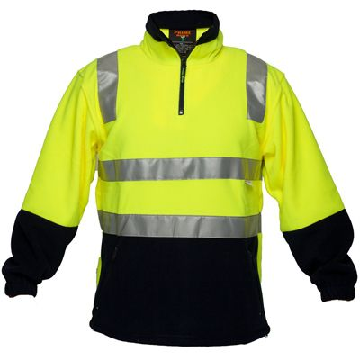 Image for PRIME MOVER HV215 HI VIS POLAR FLEECE JUMPER WITH TAPE 43922 ZIP 2 TONE from ONET B2C Store