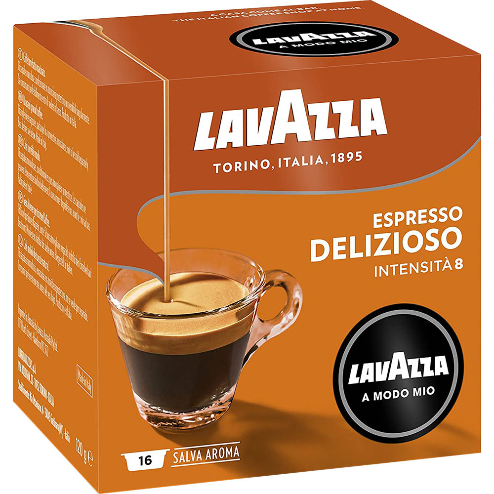 Image for LAVAZZA A MODO MIO ESPRESSO DELIZIOSO COFFEE CAPSULES PACK 16 from ONET B2C Store