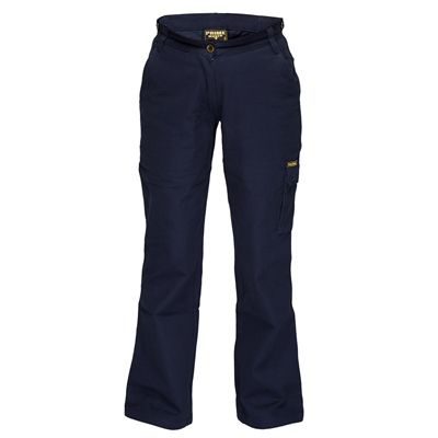 Image for PRIME MOVER ML708 LADIES COTTON DRILL PANTS CARGO POCKETS from Mercury Business Supplies