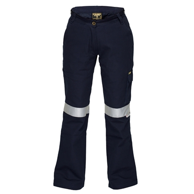Image for PRIME MOVER ML709 LADIES COTTON DRILL CARGO PANTS WITH TAPE from Mercury Business Supplies