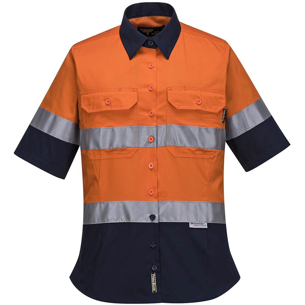 Image for PRIME MOVER ML109 LADIES COTTON DRILL SHIRT 2 TONE 3M TAPE from Devon Office Products